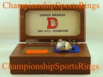 1989 DENVER SUPER BOWL AFC CHAMPIONSHIP PLAYER 10K RING  With Wooden Presenation Box.  Size 14 3/4.  $$$ SOLD $$$