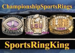 2007 LSU TIGERS BCS NATIONAL CHAMPIONSHIP Players Ring. Player plays in the NFL.  Size 12.  Rings weighs in at 48.2.  Ma