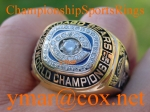 1985 CHICAGO BEARS SUPER BOWL CHAMPIONSHIP 10K RING!!! Item number: 180075793881 Auctions ends on Jan-24-07 18:15:00 PST
