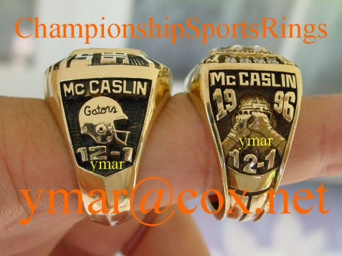 1996 National Championship & SEC Championship Rings once owned by NFL Player Eugene McCaslin