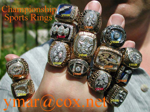 Ever wonder how many Championship Rings you can get on your hand?? Well now you know.  Can you name all of these Champio