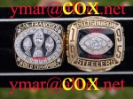 1988 San Francisco World Championship and 1995 Pittsburgh AFC Championship Rings