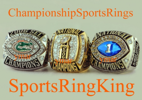 2006 Florida Gators SEC, National Champs, BCS Champs Rings all from All-American and NFL Drafted Player Ryan Smith