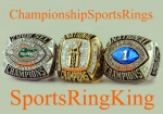 The 2006 Florida Gators Trio of Championship Rings.  The National Championship, SEC Championship and BCS National Champi