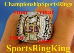 2007 LSU TIGERS NATIONAL CHAMPIONSHIP Coaches Ring.  Very Rare!! Size 12.  Ring weighs in at 51.2 Grams. Very Heavy and